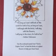 Drawing of a Flower with a Poem