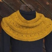 black gold woven cowl