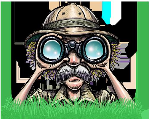 Art Safari_Binoculars dude
